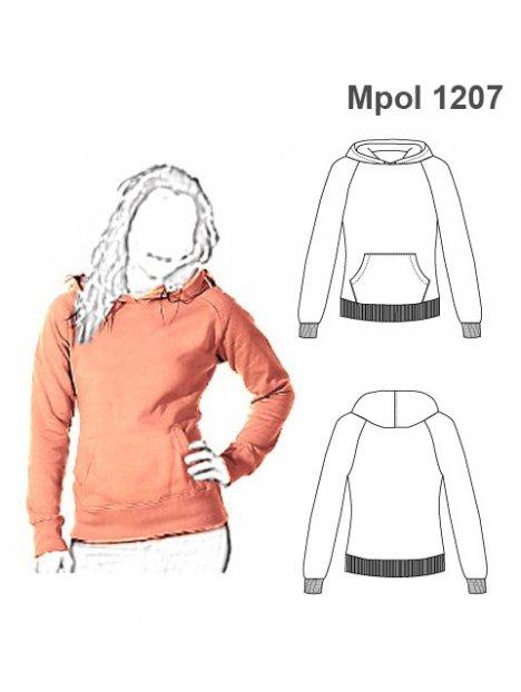 POLERON CANGURO MUJER 1207