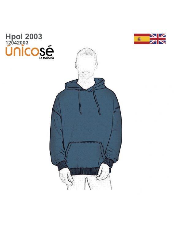 POLERON OVERSIZE CANGURO HOMBRE 2003
