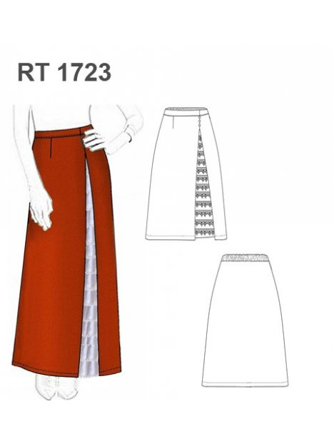FALDA HUASA ELEGANTE RT 1723
