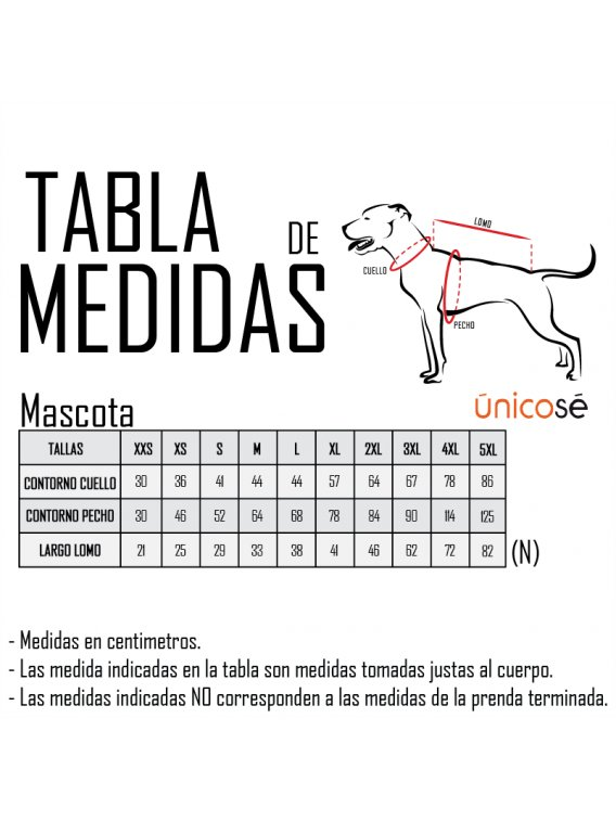 VESTIDO HUASA MASCOTA ACC 0927