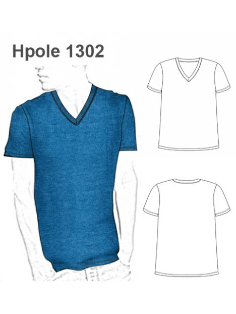 POLERA ESCOTE V HOMBRE 1302