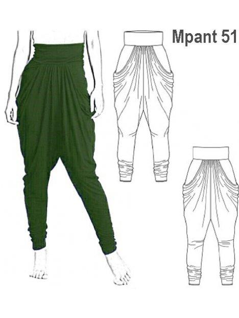 Molde Pantalon Harem Mujer 0951