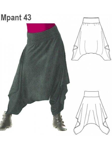 Molde Pantalon Harem Mujer 0943